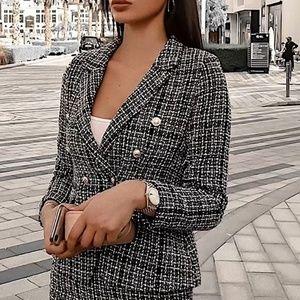 Fashion Nova Ready For My Raise Blazer & Skirt Set